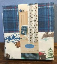 Christmas Cabin Fabric Shower Curtain St. Nicholas Square 70x70 Kohl's New