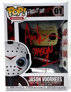 "ARI LEHMAN Signed FRIDAY THE 13th ""JASON KILLS ..."" Funko POP Figure BAS Witness"