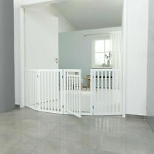 TRIXIE DOG PUPPY WHITE WOOD BARRIER GATE FENCE FOUR PIECE WITH DOOR BRAND NEW