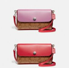 COACH REVERSIBLE CROSSBODY IN SIGNATURE COATED CANVAS