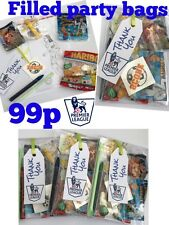 Premier league football party bags, pre filled sweets toys,  boys, girls 99p