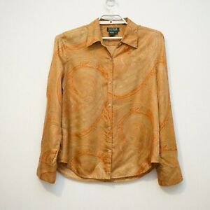 Lauren Ralph Lauren 100% Silk Blouse Sz 12