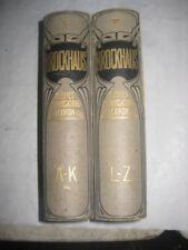 BROCKHAUS KLEINES CONVERSATIONS-LEXIKON 1910 in tedesco