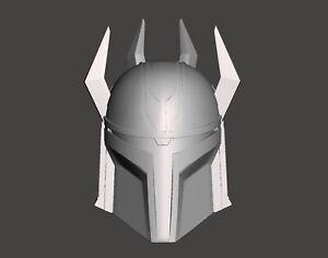 Star Wars The Clone Wars Custom 3.75 Gar Saxon Mandalorian Helmet for Hasbro TVC