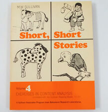 Short Stories Vol 4 Sullivan Reading Books 17-20 Exercises in Content Analysis