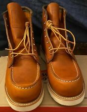 Red Wing Heritage 875 Classic Moc Toe Boot Men's Size 9D Oro Legacy Leather