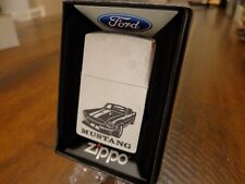 FORD MUSTANG CAR BLACK ZIPPO LIGHTER MINT IN BOX