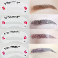 24 Styles DIY Eyebrow Stencil Eye Brow Kit Liner Shaper Makeup Template Shaping