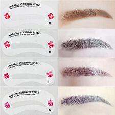 24 Styles Kit Eyebrow Template Shaping Stencils Grooming Makeup Shaper DIY Tools