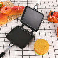 Double-Sided Sandwich Maker Cake Bread Toaster Non-Stick Pan Mold Household