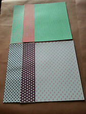 12 Sheets of Craft Backing Paper Approx A4 (4)