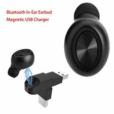 Mini Bluetooth Wireless Earphone In Ear Headset Earbud With Magnetic USB Charger