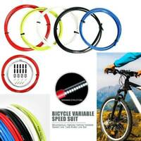 2m Mountain Road Bike Brake Cable Wire Bicycle Shift Wire Brake Line Pipe Black