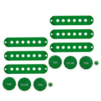 2 Set Guitar Single Coil Pickup Cover 1 Volume 2 Tone Knobs Switch Tip Green