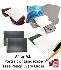2 Sketch Book Artist Drawing Pad Spiral White Cartridge Paper Craft Art A4 A3 !