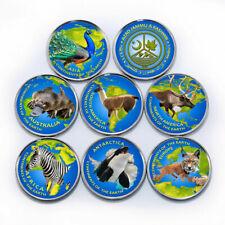 Azad Jammu and Kashmir, 1 rupee, Set of 7 coins Animals World Continents 2020