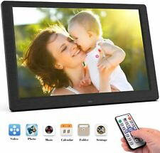 10.1'' HD LED Digital Photo Picture Frame Clock Movie MP4 Player Remote Control