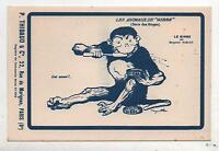 CPA. Carte Postale publicitaire Animaux de Gibbs. Benjamin RABIER Le Singe.