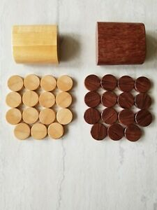 30 Vtg Wooden Backgammon Pieces/Chips - 1 1/4 pieces + Tumblers - Handmade?