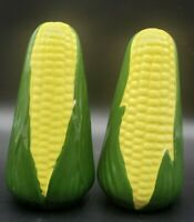 "Vintage 4 1/2"" Pair of Sweet Corn on the Cob Salt & Pepper Shakers Signed D.B."