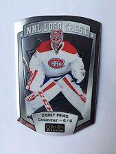 2016-17 OPC Platinum Carey Price NHL Logo Crest #NHLLD-15