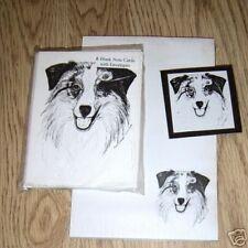 Australian Shepherd 3 Piece Set-Notepad,6 Blank Notecards and Magnet
