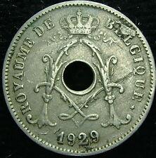 1929 Belgique Belgique Belgie 10 cents centimes fautées
