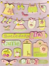 K & Company Grand Adhesions Small  Wonders **GIRL CLOTHESLINE