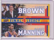 2013 Upper Deck Kansas Final 4 Legacy Duos #F4D3 Larry Brown / Danny Manning SP