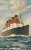 """CUNARD R.M.S """"LUSITANIA"""" & """"MAURITANIA"""" / FROM CHARLES TURNER'S VERTICAL SERIES."""