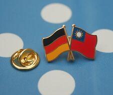 Freundschaftspin Deutschland Taiwan Pin Button Badge Anstecker Anstecknadel AS