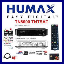 HUMAX TN 8000 HD PVR DECODEUR TNTSAT HD Canal Ready  12 V/220V  + HDMI