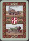 Playing Cards Single Card Old Wide 1925 WORSHIPFUL Co. RAILWAY CENTENARY Train B