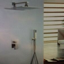"""NEW LED 12"""" Rain Head & Hand Shower System-Stainless Steel Brushed Nickel"""