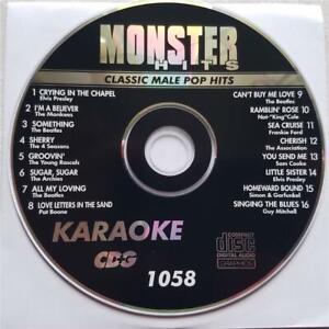 1970S KARAOKE MALE POP HITS CDG MONSTER HITS MH1058 - BEATLES,ELVIS MUSIC CD
