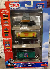 Fisher-Price Thomas and Friends TrackMaster Dieselworks Delivery NIB 3 Cars!