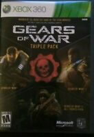 GEARS OF WAR TRIPLE PACK  (Microsoft Xbox 360, 2011) CLEAN  VERY GOOD CONDITION