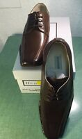 Hugo Vitelli Boys Youth Brown Pointed Toe Dress Shoes K515BRW-BB Sizes 12.5-1.5