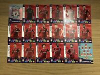 PANINI ADRENALYN XL PREMIER LEAGUE 2020/21 TEAM SET OF ALL 18 LIVERPOOL CARDS