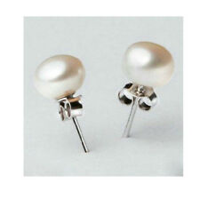 UK Silver Stud Cultured Freshwater Pearl Stud Earrings Wedding Bridal