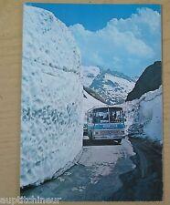 Carte postale CPM Bus SNCF au col de l'iseran écrite