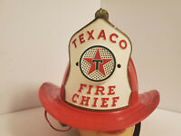 Vintage 1960s Texaco Fire Chief Hat Microphone and Speaker