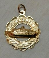 Vintage 14K Yellow Gold St. Maarten Cruise Ship Charm or Pendant