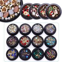 Nail Rhinestones Glitter Gems Crafts Studs Christmas 3D Nail Art Decoration DIY