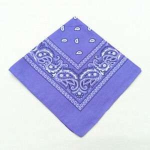 """Paisley BANDANAS ~ Many Colors, 21"""" square Buy 1 or a Dozen Soft Polyester scarf"""