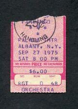 1975 Zz Top Concert Ticket Stub Albany New York Fandango Tour