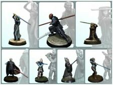 7PSC Classic 30MM Star Wars Figure Collection Miniatures Unpainted Resin Model
