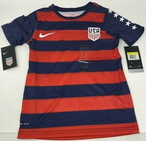 Nike Boys USA Soccer Jersey NWT Retail $75 Patriotic Size S NEW WITH TAGS