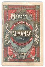 1910 MARSHALL'S POCKET ALMANAC AND COMPEDIUM