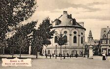 Hanau, Theater und Johanniskirche und Kleidermagazin Gertenbach, um 1910